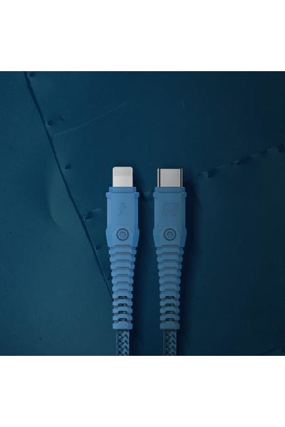 Momax, Tough-Link Lightning to Type-C Charging Cable -1.2M Blue (DL33B) - www.emarketkw.com
