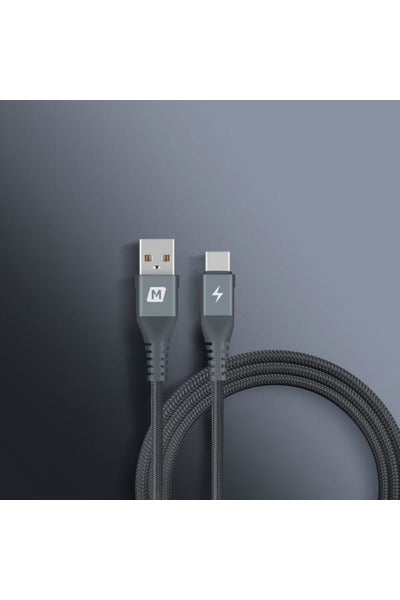Momax Elite Link USB-A to USB Type-C Cable (2M) Black (DA18E) - www.emarketkw.com