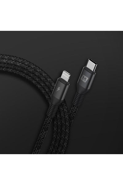 Momax Elite Link Lightning to Type-C Cable (2.2M) - Black (DL32D) - www.emarketkw.com