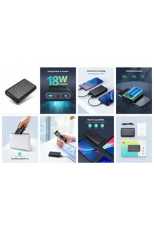 RavPower Turbo 10050mah 18W 2-Port, QC 3.0 Ismart Power Bank - Black