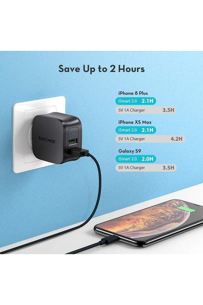 RAVPower Prime 17W 2-Pack 2-Port Wall Charger (RP-PC121) - www.emarketkw.com