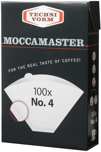 Technivorm Moccamaster Premium Coffee Filter Papers 100 x No. 4 size FSC