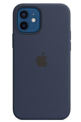Apple Silicone Case With Magsafe for Apple iPhone 12 & 12 Pro Deep Navy