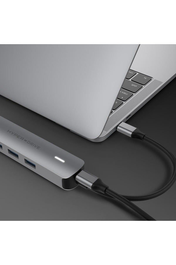 HyperDrive 6in1 USB-C Hub with 4K HDMI Output  - Gray (HD233B)