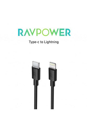 RAVPower / C-Lightning Cable / Charge & Sync 3.3ft 1m-Black (RP-CB062)