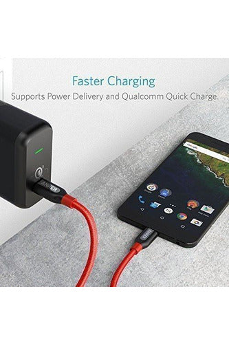 Anker Powerline+ USB-C to USB-C 2.0 (0.9m/3ft) - Red - www.emarketkw.com