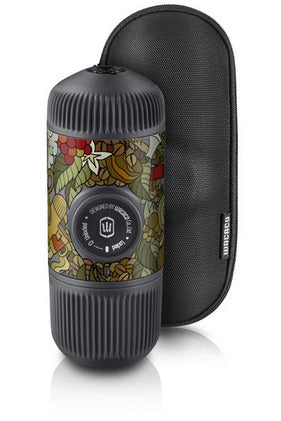 WACACO Nanopresso TATTOO JUNGLE Portable Coffee Machine+Carrying Bag +NS Adapter- Grey - www.emarketkw.com