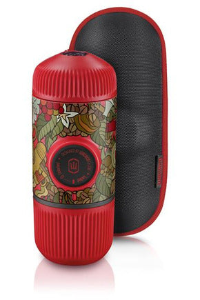 WACACO Nanopresso TATTOO JUNGLE Portable Coffee Machine+Carrying Bag+NS Adapter - Red - www.emarketkw.com