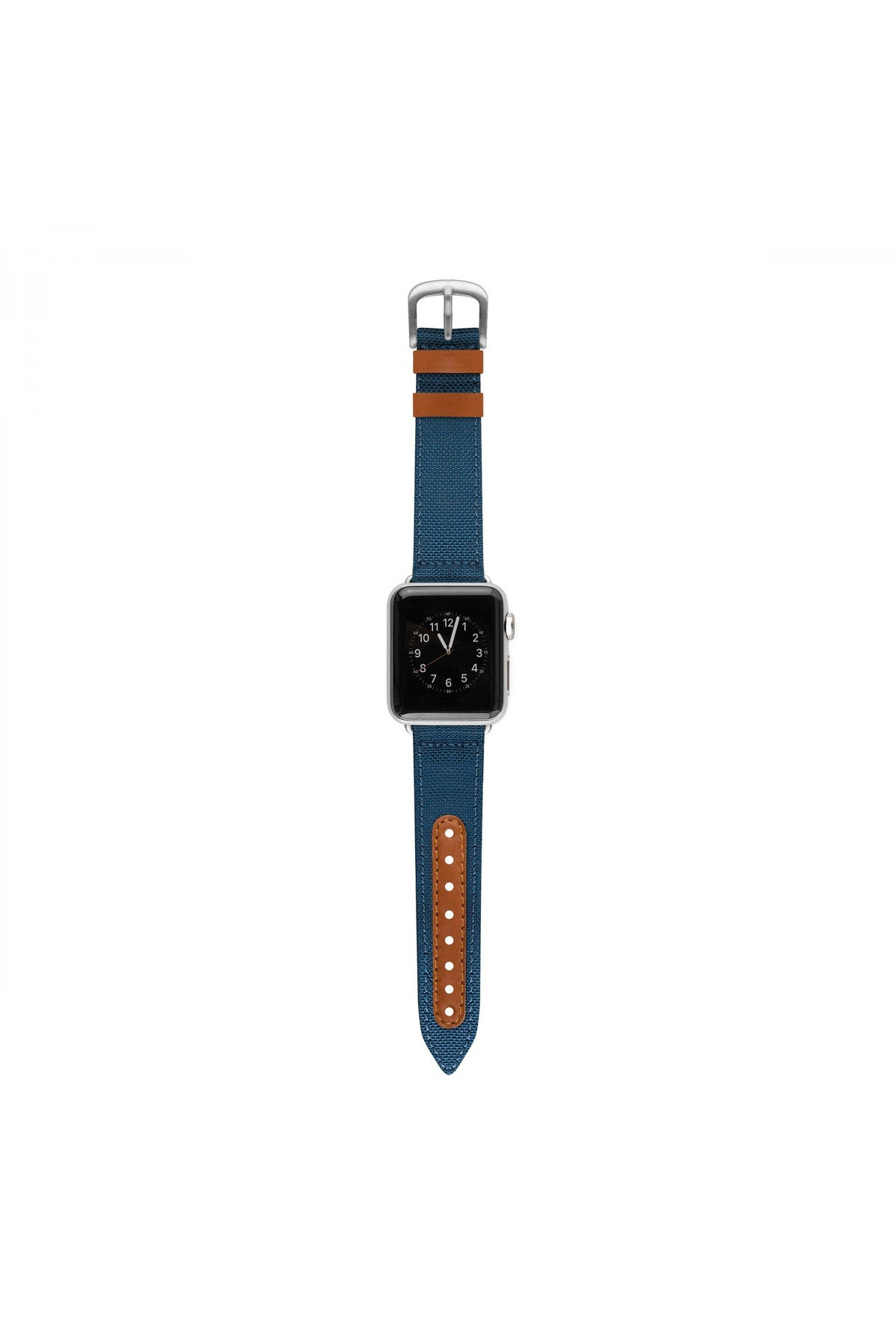 Evutec Northill Series Apple Watch Band 38MM & 40MM - Blue/Saddle (WB-A13-38-D03) - www.emarketkw.com