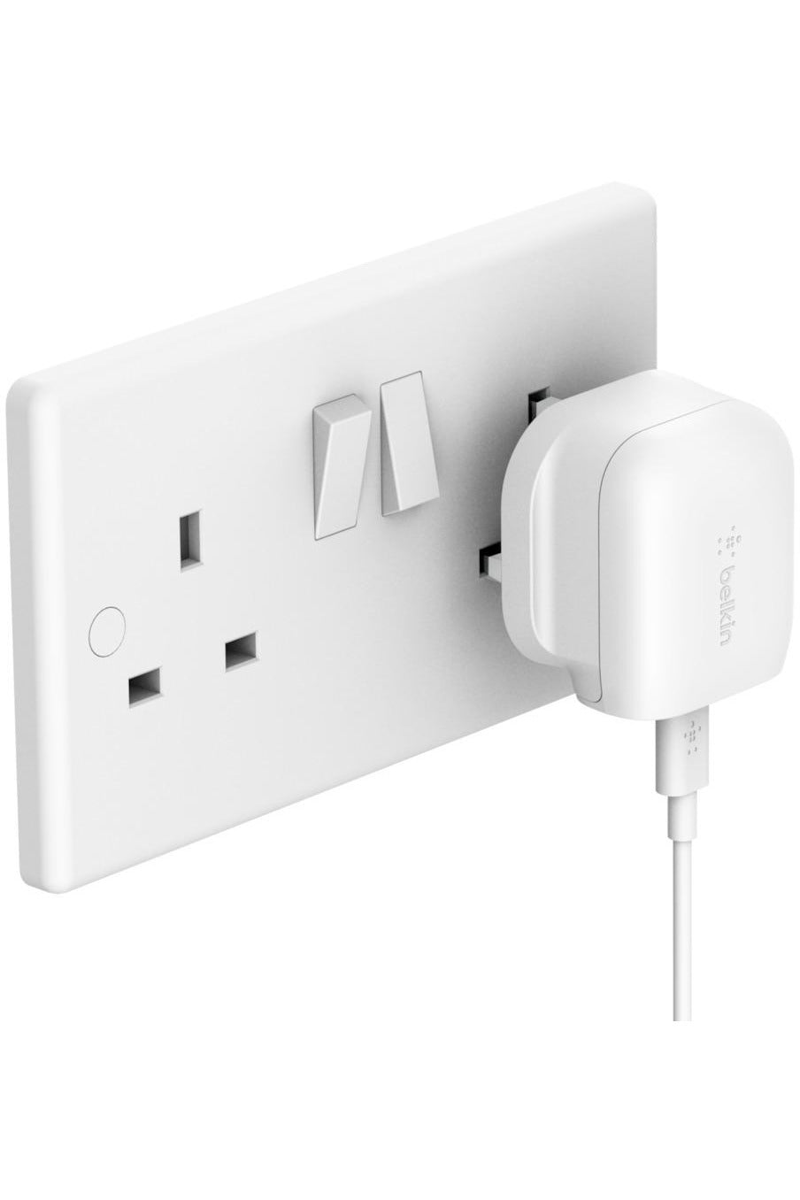 Belkin BOOST CHARGE USB-C Wall Charger 18W + USB-C to Lightning Cable - White