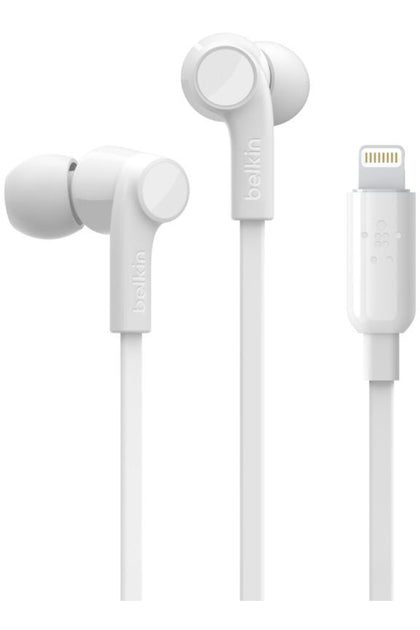 Belkin ROCKSTAR Headphones with Lightning Connector - White
