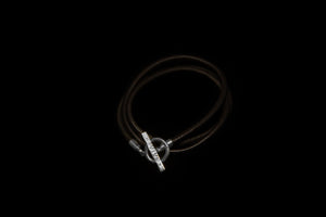 Smooth Leather T-Bar Bracelet