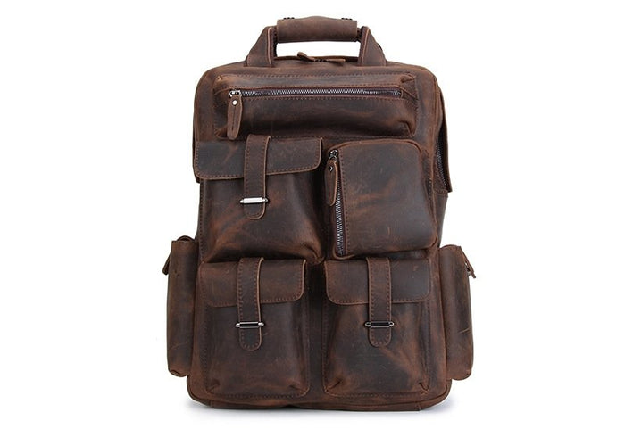 The Washington Handmade Leather Backpack