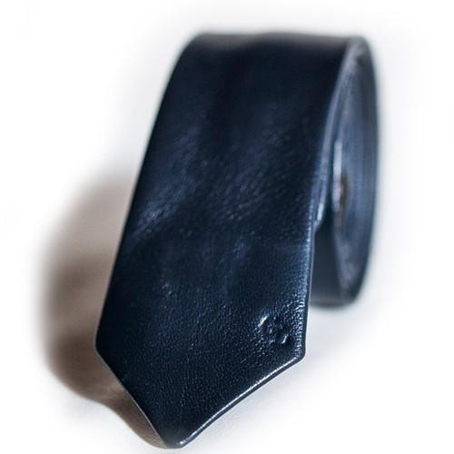 Kind of Blue Leather Tie