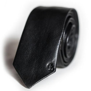 Noir Leather Tie