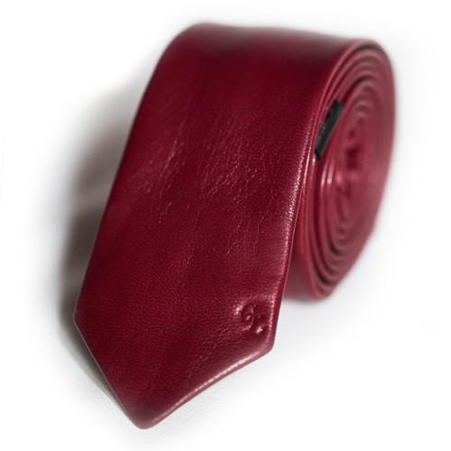 Dracula Red Leather Tie