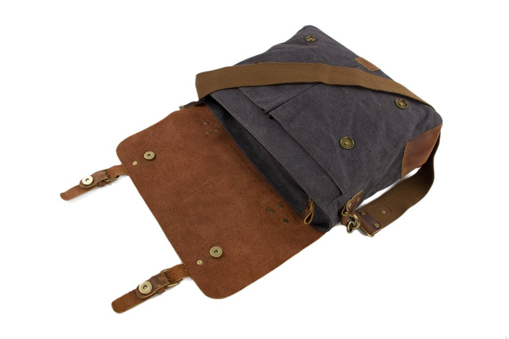 The George Handmade Canvas Briefcase