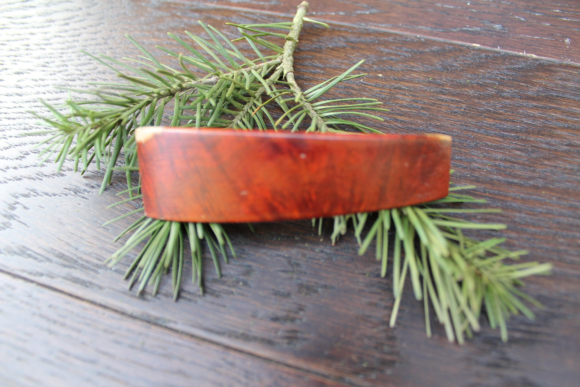 Hair Barrette, Wood Hair Clip, Luxury, French Barrette Small clip Baby barrette Manzanite Wood Handmade in USA
