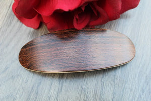 Hair Clip Wengue, Wood Barrette, Hair Barrette, French France clip
