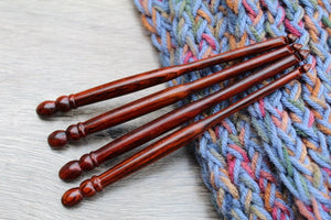 Size K-J-I-H Crochet Hook, Crochet hook set , Handmade set of Crochet hook, Brown **BUY ONE or SET**