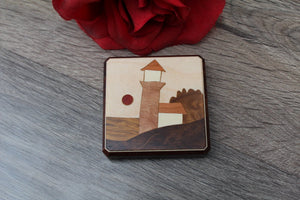 Purse Mirror, Pocket Mirror, Hand Mirror, Compact Mirror, regular and  magnifying glass, bridesmaid gift, birthday Lighthouse