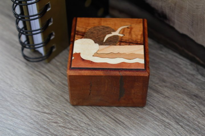 Office Paperweight, Paper weight, Picture Paper weight, Wood Inlay Handmade in USA 11