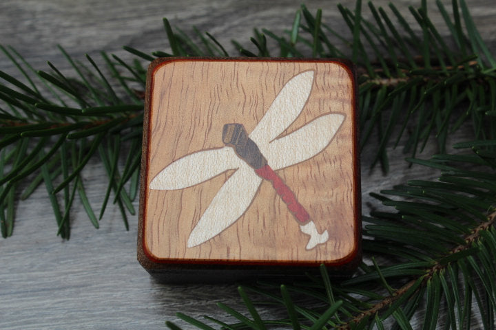 Dragon Fly Compass, Compass Box, Photo Picture Compass, Graduation gift, Corporate Gift, Father's day Husband scout Daffodil