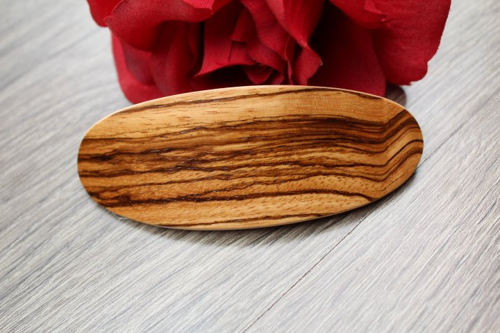 Bocote Hair Clip, Wooden Hair Barrette, French Large clip, Bun Holder Wood