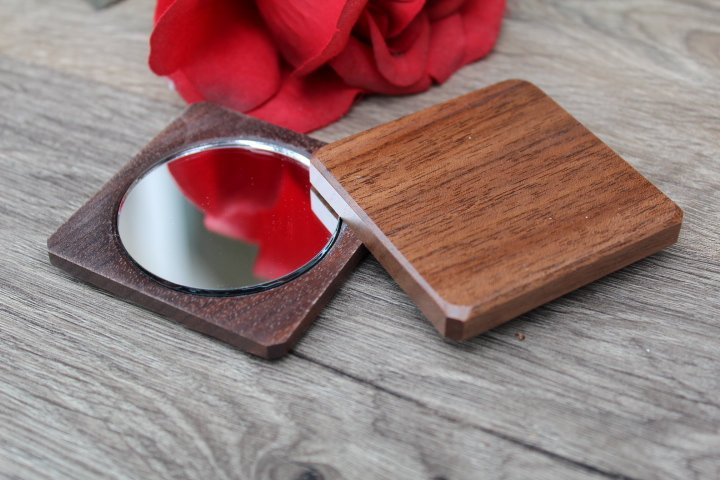 Compact Mirror, Pocket Mirror, Hand Mirror, Purse Mirror, regular and  magnifying glass, bridesmaid gift, birthday Flower