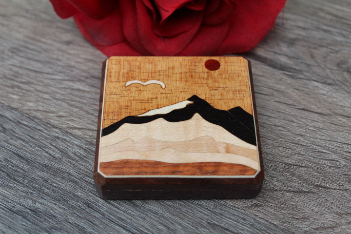 Purse Mirror, Pocket Mirror, Hand Mirror, Compact Mirror, regular and  magnifying glass, bridesmaid gift, birthday Mountain Range