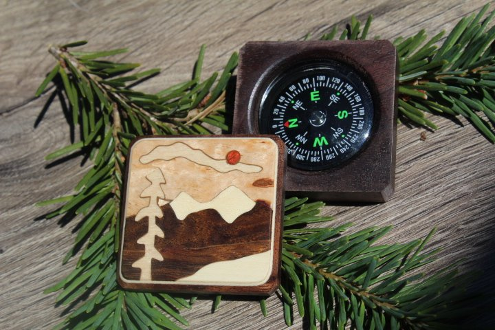 Compass, Compass Box, Personalized Compass, Survival kit Essential, Graduation gift, Corporate Gift, Father's day Husband scout 2 Mountain