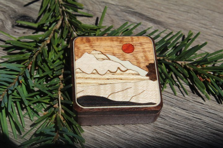 Compass Box Mountain white Red sun Hiking Camping Hunting Sport Outdoor Winter Christmas Gift Men Boy scout Girl  Made in USA