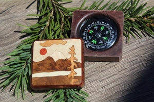 Compass, Photo compass Box , Personalized Compass, Survival kit Essential, Graduation gift Hiking Hunting Gift for Husband scout Mountain