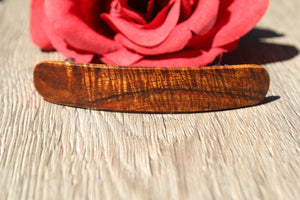 Barrette Hair French Clip Koa Wood Luxury Made in USA