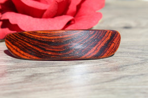 French Clip Hair Barrette Cocobolo Valentine's gift Birthday Anniversary Woman Wood Made in USA