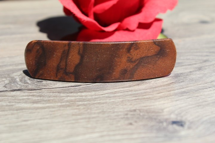 Hair Clip, Wood Hair Barrette, French Clip Hair Barrette, Ponytail Holder, Girl Toddler Small Birthday Anniversary Mother's gift