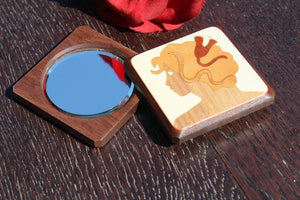 Purse Mirror, Pocket Mirror, Hand Mirror, Compact Mirror, regular and  magnifying glass, bridesmaid gift, birthday Woman