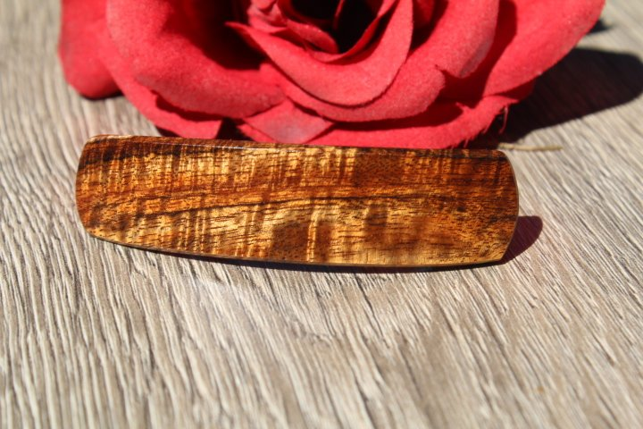 Hawaii Koa Hair Clip, Koa Hair Jewelry, Barrette, Hair Clip Barrette, Woman Mother's day, toddler small Gift Wood Made in USA