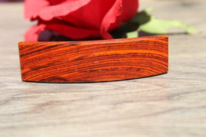 Cocobolo Hair Clip, Hair Barrette, Wood barrette, French France Barrette Gift for mom Made in USA