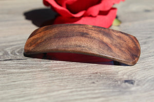 Hair Clip Barrette, French Clip Hair Barrette, Christmas Gift, Mother's Valentine's gift Birthday Anniversary Woman Wood