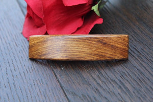 Wooden  Hair Barrette, Wood Hair Clip, French Clip Barrette, Small clip barrette Salvaged Wood Handmade in USA