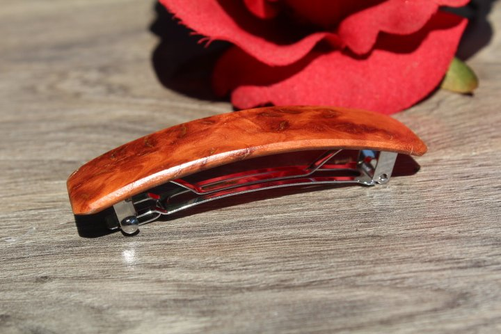 Manzanita Hair Clip, Hair Barrette, Wood barrette, French France Barrette Gift for mom Made in USA