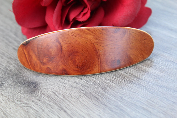Red Hair Clip, Barrette, Wooden Barrette Christmas gift, gift for her,  Hair Barrette Hair Clip French Hair Clip Luxury