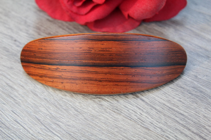 Hair Clip, Wooden Hair Barrette, French Large clip, Bun Holder Wood