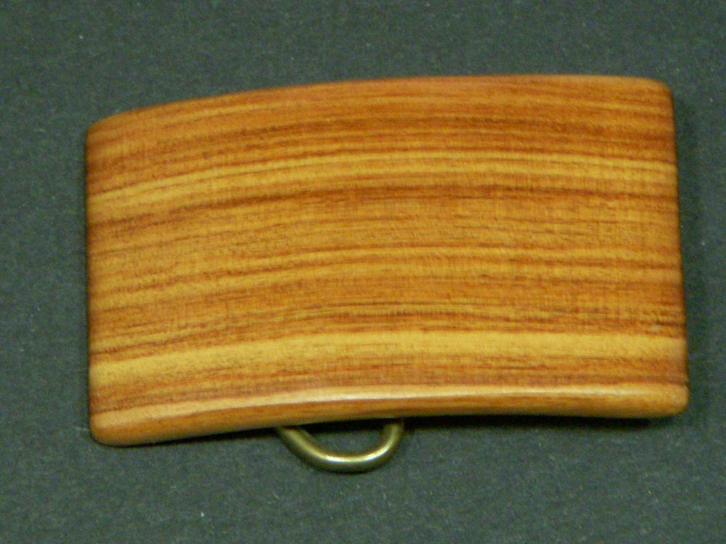 Belt Buckle Tulip Wood CURVED Made in USA