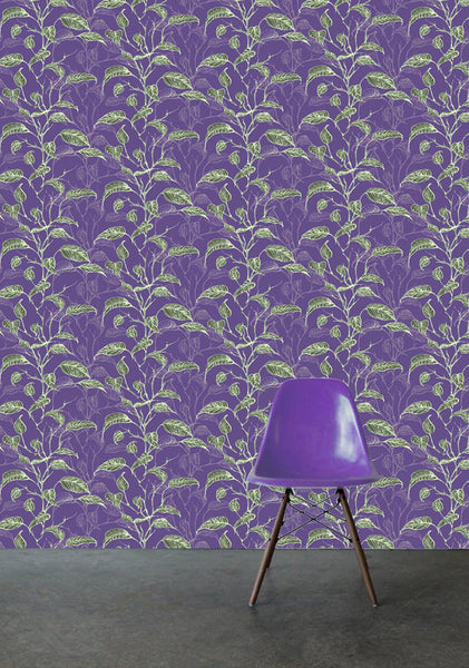 Leaf Stripe Purple