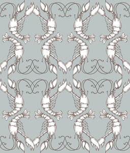 Sample Lobsters Wallpaper Teal  5112