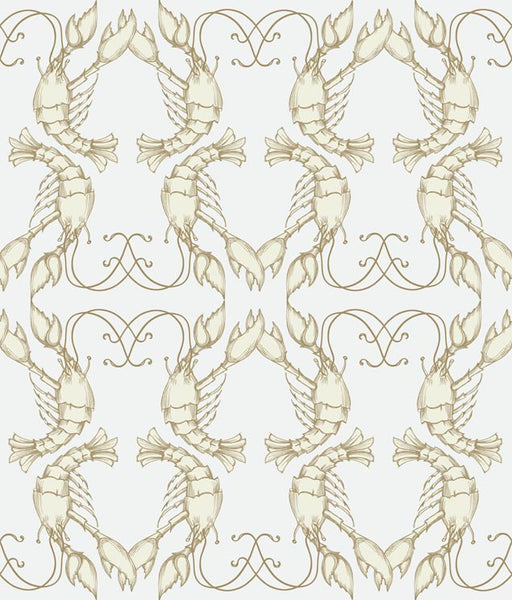 Sample Lobsters Wallpaper Off White/ Pale Lilac  5111