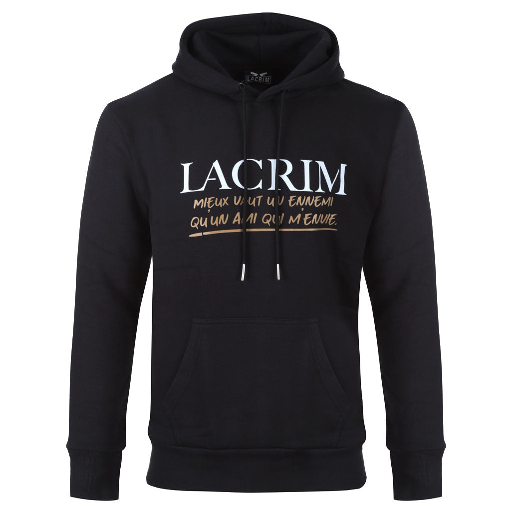 Pull à capuches noir Lacrim – Enemy Edition