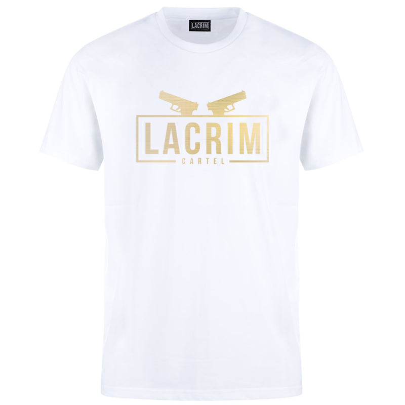 T-shirt Lacrim Cartel  White Edition